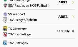 Kreisliga A 2, Spiel in Walddorf abgesagt !